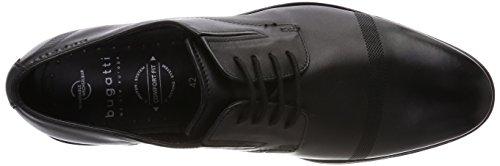 de Zapatos Cordones para Bugatti Negro Hombre Schwarz 311453011100 Derby q1Fxw5wUn