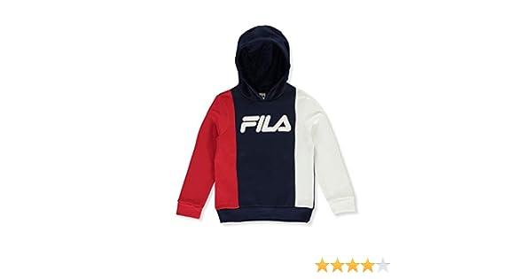 Fila Boys Vertical Tricolor Pullover Fleece Hoodie