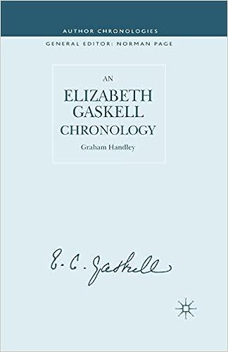 An Elizabeth Gaskell Chronology (Author Chronologies)
