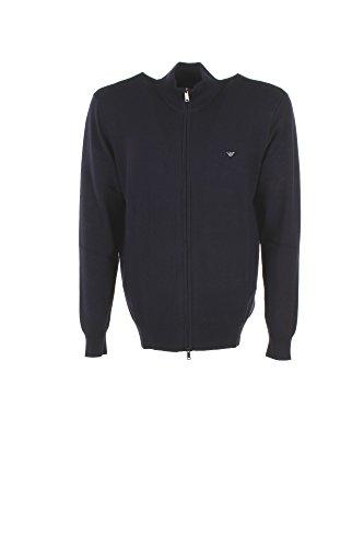 Cardigan Uomo Armani Jeans XS Blu 8n6ea1 6m0iz Autunno Inverno 2017/18
