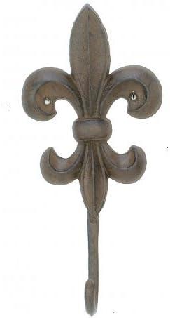 hierro fundido Gancho de pared 1 pieza dise/ño de flor de lis perchero y soporte para llaves