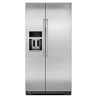 KitchenAid 23.9-cu ft Counter-Depth Side-By-Side Refrigerator with Single Ice Maker