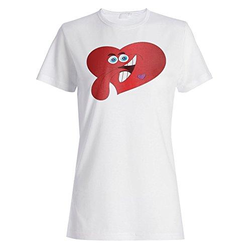 Neues Lustvolles Herz Damen T-shirt l511f