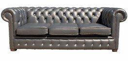 Designer Sofas4u Chesterfield divano di pelle di strass di 3 posti ...