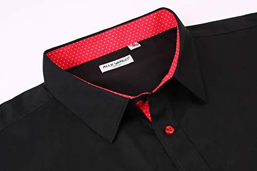 ff98c5be245 Alex Vando Mens Big   Tall Dress Shirts Regular Fit Long Sleeve Men Shirt