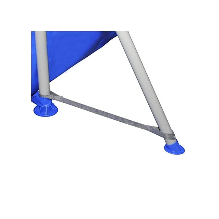 31mX%2BH 7ocL Estructura de acero lacado de larga duración. Pared de piscina reforzada con tejido de poliéster. Color: azul