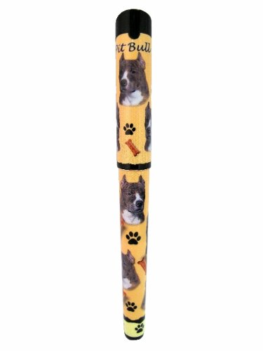 E&S Pets Pit Bull, Brindle Pen Easy Glide Gel Pen, Refillable with A Perfect Grip, Great for Everyday Use, Perfect Pit Bull, Brindle Gifts for Any Occasion