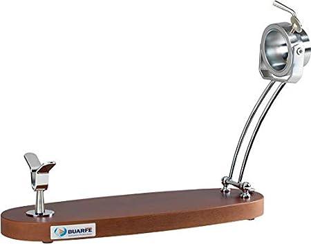 BRICOMIRAS JAMONERO Modelo JABUGO Plegable Haya Giratorio Color Nogal, Ideal para Uso DOMÉSTICO Y Profesional (Bares Y RESTAURANTES), Soporte JAMONERO Giratorio