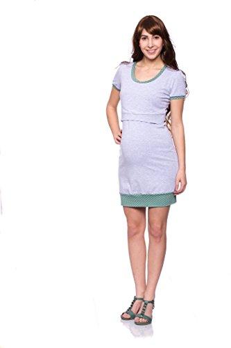 Milchshake - Vestido - para mujer grau/mintgrün