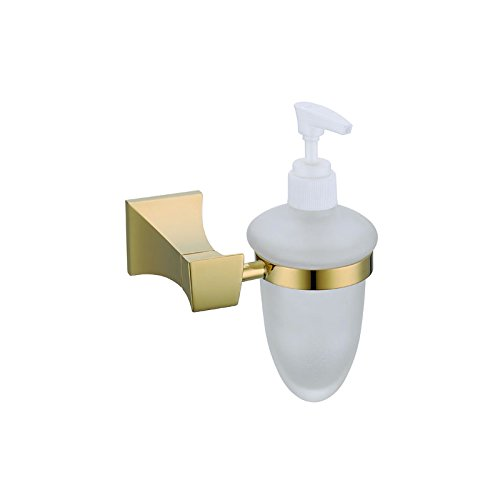 (ULING SDH0125 Rich Gold Kitchen Bathroom Soap Dispenser Holder)