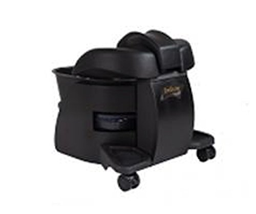 Continuum Pedicute Portable Massage Foot Spa w/ No Plumbing / Installation - BLACK by Continuum