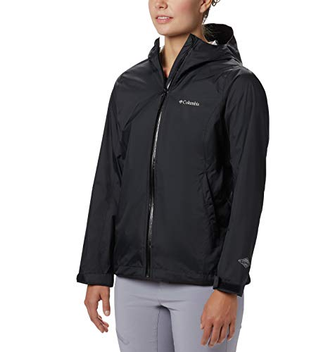 Columbia Women's EvaPOURation Jacket, Waterproof & Breathable,Black,X-Small (Womens Omnitech Columbia)