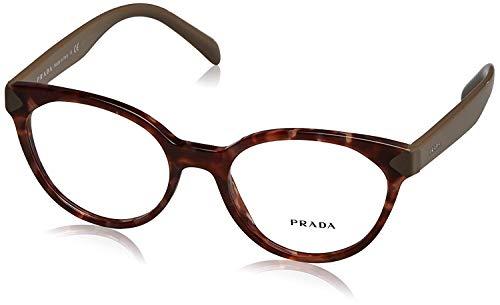 Prada PR01TV Eyeglass Frames UE01O1-51 - Spotted Brown Pink PR01TV-UE01O1-51 ()