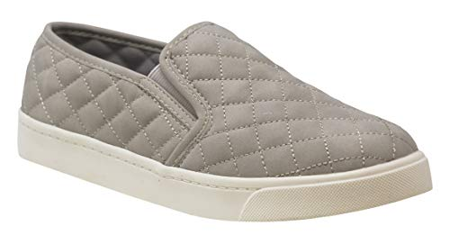(soda alone Dove Gray quilted sneakers (5.5))