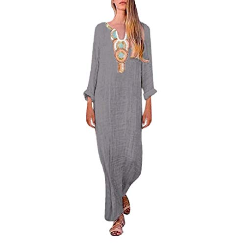 Side Split Long Strap Dress Women's Summer Loose Strapless Maxi Dresses Cotton Linen Boho Bohemian Print Dress by Lowprofile