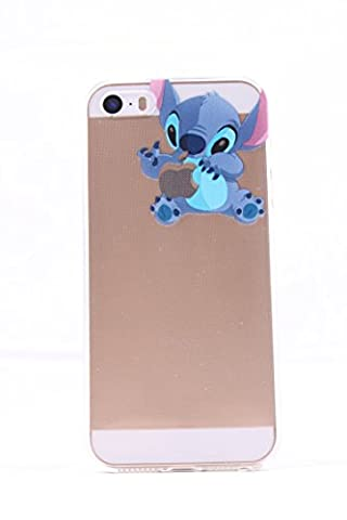 ROXX iPhone SE / 5S / 5C iPhone Clear Silicone Case Stitch Holding Apple (iPhone SE/5s/5C-Stitch) (Disney Cell Phone Cases Iphone 5c)