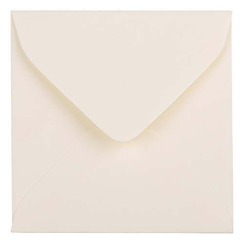JAM PAPER 3 1/8 x 3 1/8 Square Strathmore Invitation Envelopes - Natural White Wove - 50/Pack