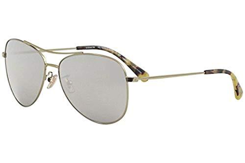 Coach Womens Sunglasses Gold/Silver Metal - Polarized - 58mm