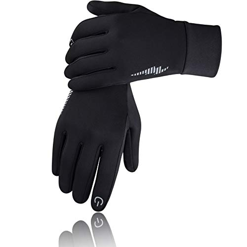 SIMARI Winter Gloves for Men Women,Keep Warm Touch, 102 Black, Size Medium