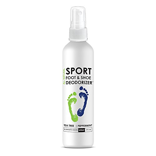 Natural Mint Foot & Shoe Deodorizer, Odor Eliminator Spray For All Shoes - Tea Tree, Peppermint, Foot Deodorant Spray Better Than Insoles, Antiperspirants, Deodorant Balls for Sneakers - Natural Tennis