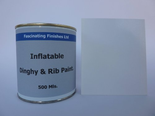 1 x 500ml White Inflatable Dinghy Anti Slip Paint. Boat R...