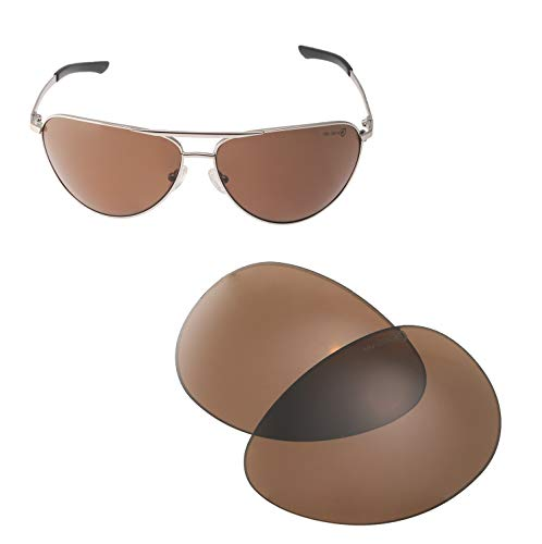 Walleva Replacement Lenses for Smith Serpico Sunglasses - Multiple Options Available (Brown - Mr. Shield Polarized) (Lenses Sunglasses Smith)