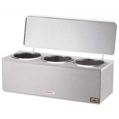 Server Products 92040 S/S Triple Cone Heated Dip With Hinged Lid