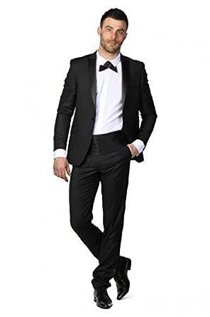 15ad6e4f0c7 Ceinture Homme Smoking Mariage noeud papillon noire - Écru - Unique   Amazon.fr  Vêtements et accessoires