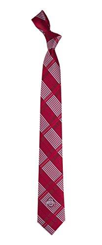 Ohio State University Skinny Plaid Tie