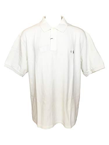 Polo Ralph Lauren Men's Big & Tall Shirt Classic-Fit Short-Sleeve Cotton Mesh Polo Shirts (3XB, Chic Cream)