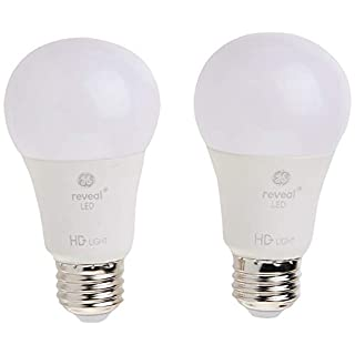 GE Lighting 98877 LED Reveal 9 (60-watt Replacement), 650-Lumen A19 Light Bulb with Medium Base, 2-Pack