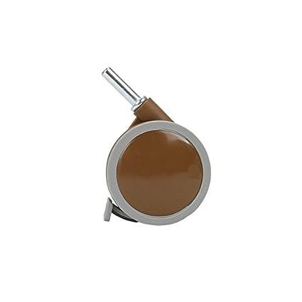 Juego de ruedas para cuna con enganche de pivote, color blanco (blanco marron)