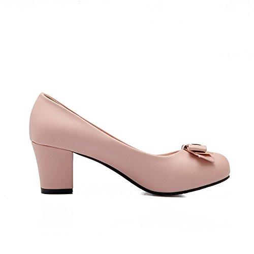 massif Mesdames balamasa heels kitten pumps supérieur Rose antidérapante shoes en cuir P7qwq5rd