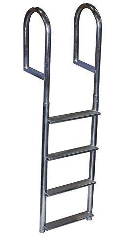 Dock Edge Welded Fixed Wide Step Dock Ladder, 4 Steps, (4 Step Dock Step)