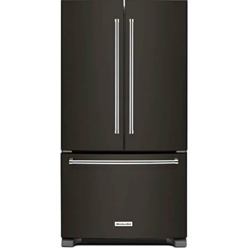 KitchenAid Black Stainless Steel Counter Depth French Door Refrigerator - Black Kitchenaid Refrigerator