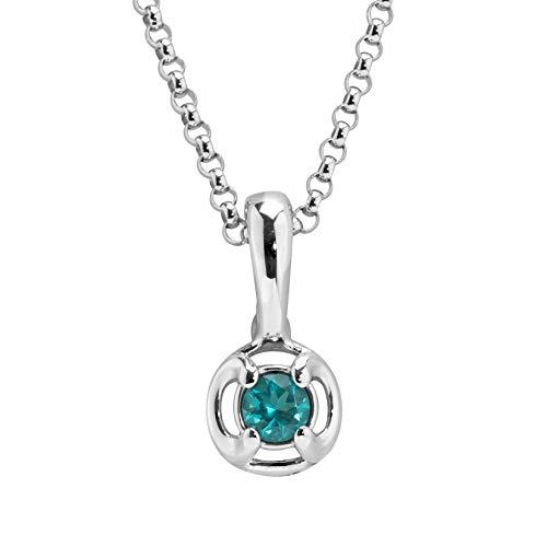Carolyn Pollack Sterling Silver & Paraibia Blue Tourmaline Chain Pendant Enhancer