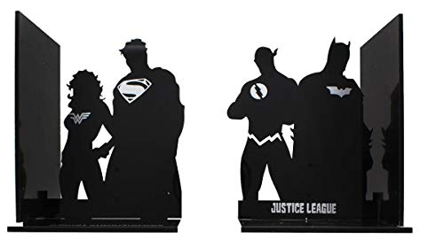 - DC Comics Justice League Superhero Silhouette Bookends