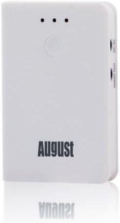 August MR220 Receptor Bluetooth para Altavoces y Equipos de Música - Conexíon inalámbrica entre reproductores de música (teléfonos moviles, ordenador, tablets ...) y altavoces (Blanco)