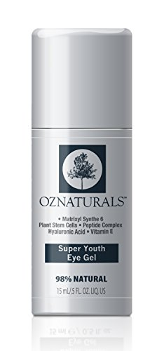 OZNaturals Super Youth Eye Gel – Anti Wrinkle, Anti Aging Eye Cream For Dark Circles, Puffiness, Wrinkles. The Most Effective Natural Skin Care Available. 98% Natural. .5 fl. Oz.