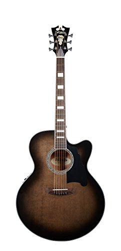 D'Angelico Premier Madison Acoustic-Electric Guitar – Grey Black