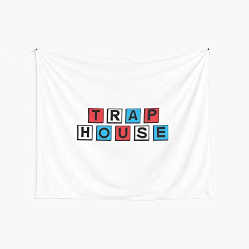 Noick American Trap House 3D Boutique Wall Tapestry Pop Art Retro Micro Microfiber Peach Peach Home Decoration 59.1X51.2 in