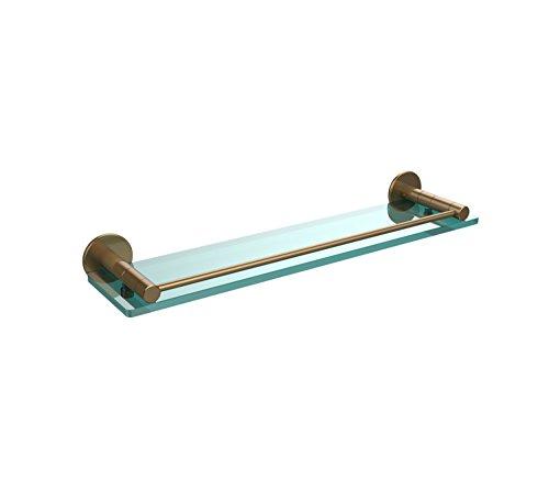 Allied Brass FR-1/22G-BBR 22-Inch Glass Shelf with Rail by Allied Brass