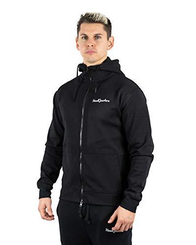 - Headquarters Men's Performance Tech Fleece Full-Zip Athletic-Fit Hoodie (Black, Large)