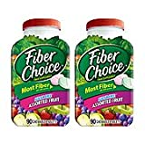 Fiber Choice Nutritional Prebiotic Supplement Sugar-Free Assorted Fruit Tablet 90 Count (Pack of 2)