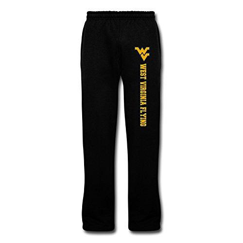 Men's West Virginia Flying WV Logo Cotton Cool Fleece Sweatpants Black