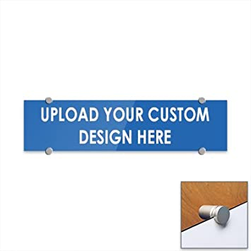 CGSignLab 3mm Premium Aluminum Sign with Brushed Aluminum Edge-Grip Stand-Offs Customize Now with Online Designer 16x16