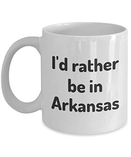 I'd Rather Be In Arkansas Tea Cup Traveler Coworker Friend Gift Home State Coffee Travel Mug Present