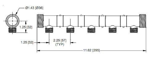 Zurn QKIPSP 5 Port Plastic Manifold Without Valves