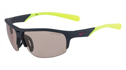 Nike EV0798-070 Run X2 PH Sunglasses (One Size), Matte Dark Magnet Grey/Volt, Max Transitions Speed Tint - Nike Transition Sunglasses