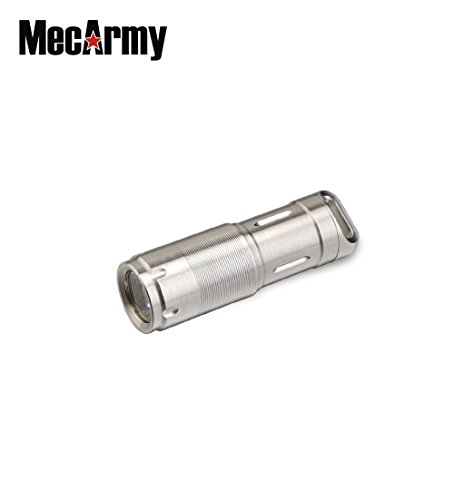 MecArmy MINI Keychain Flashlight, 130 Lumen Waterproof Cree LED Keyring Light Including 10180 Rechargeable Battery (Stainless Steel/Polished X2S ) by MecArmy